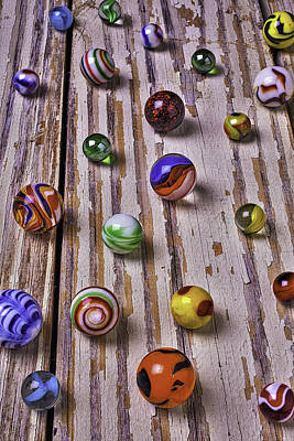 Chip Photograph - Wonderful Marbles by Garry Gay