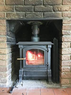 Stove Photograph - Wood Burning Stove by Tom Gowanlock