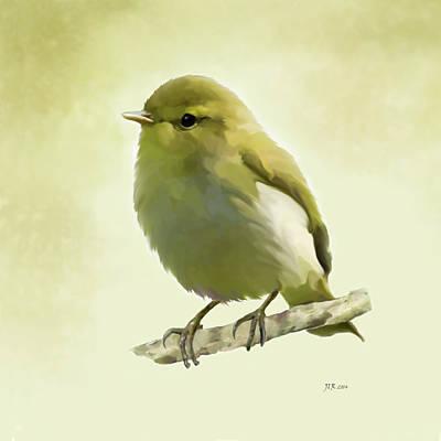 Painting - Wood Warbler - Phylloscopus Sibilatrix by Bamalam  Photography