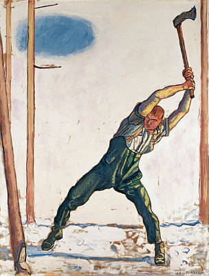 Painting - Woodcutter by Ferdinand Hodler