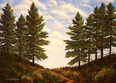 Pacific Crest Trail Painting - Wooded Path by Frank Wilson