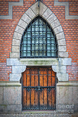 Wooden Arch Doors Art Print by Antony McAulay