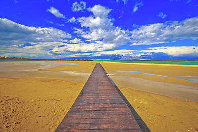 Photograph - Wooden Boardwalk And Sand Beach Of Nin by Brch Photography