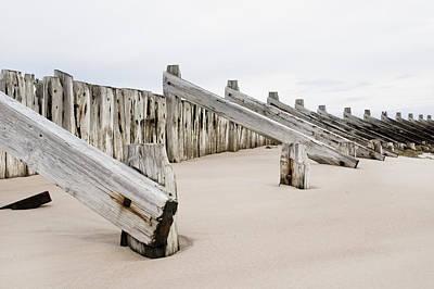 Messy Photograph - Wooden Breakwater by Tom Gowanlock