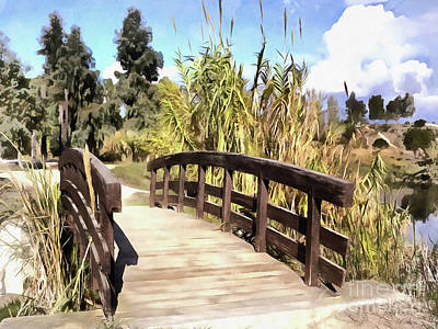 Painting - Wooden Bridge by George Atsametakis