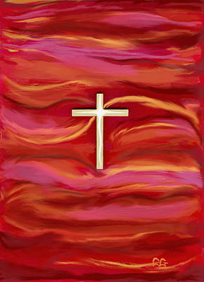 Wooden Cross Art Print by BlondeRoots Productions