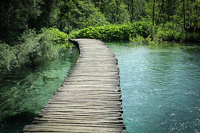 Photograph - Wooden Hiking Path Or Trail Over Water by Brandon Bourdages