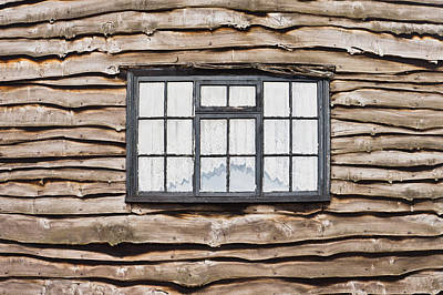 Cabin Wall Photograph - Wooden House by Tom Gowanlock
