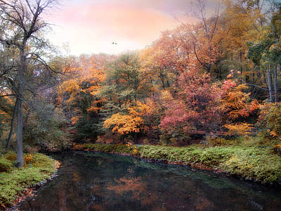 Woodland River Art Print
