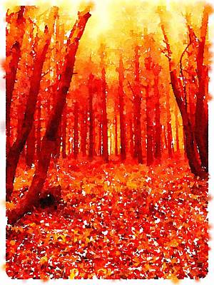 Impressionism Paintings - Woods by John Springfield by Esoterica Art Agency