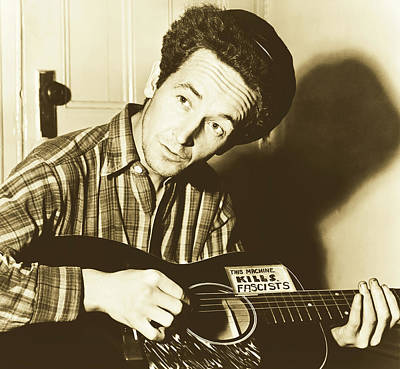 Photograph - Woody Guthrie 1943 by Library Of Congress