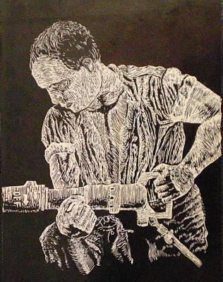 Working Man Art Print by Tammera Malicki-Wong