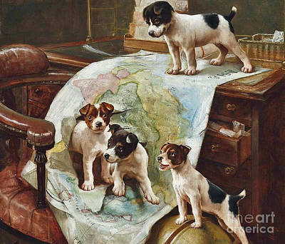 World Domination Painting - World Domination by MotionAge Designs