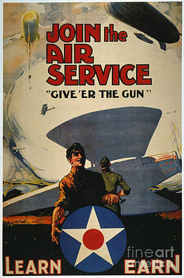 World War I: Air Service Art Print by Granger