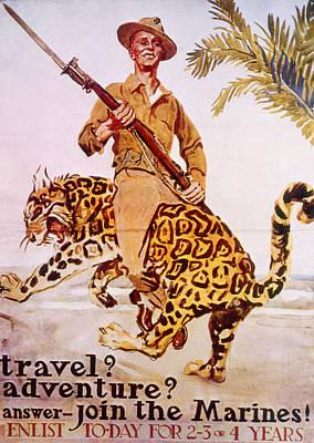 Jt History Photograph - World War I American Recruiting Poster by Everett