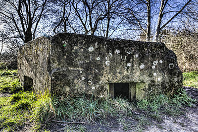 World War Two Bunker Art Print by David Pyatt