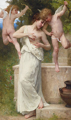 Classical Realism Painting - Wounds Of Love by William-Adolphe Bouguereau
