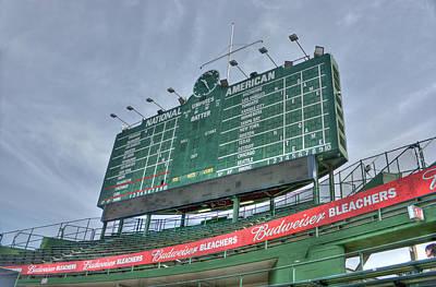 Photograph - Wrigley Scoreboard by David Bearden