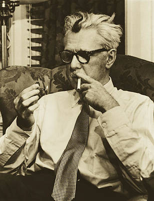 Photograph - Writer James Thurber 1953 by Fred Palumbo