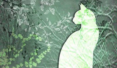 Digital Art - Wuthering Heights, Green Scene by Nancy Lorene