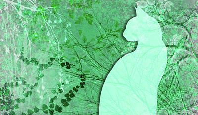 Digital Art - Wuthering Heights, Mint Julep by Nancy Lorene