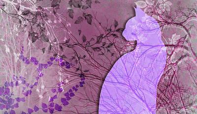 Digital Art - Wuthering Heights, Parisian Plum by Nancy Lorene
