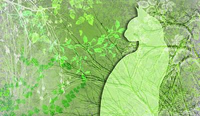 Digital Art - Wuthering Heights, Spring Green by Nancy Lorene