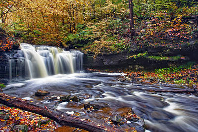 Artwork Photograph - Wyandot Waterfall by Marcia Colelli