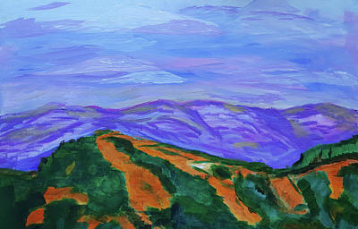 Painting - Wyoming Landscape  by Cathy Anderson
