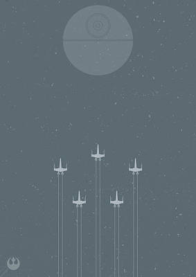 Astronauts Digital Art - X-wing Attack by Samuel Whitton