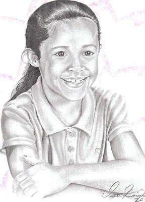 Drawing - Xiomara by Dustin Knighton