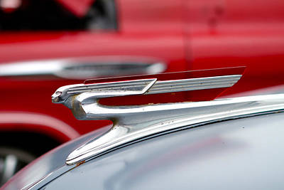 Photograph - Hood Ornament by John Babis