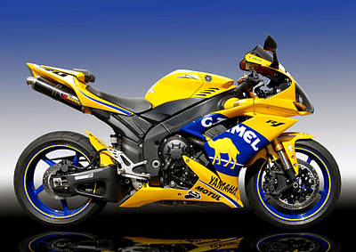 D700 Digital Art - Yamaha R1 by Carl Shellis