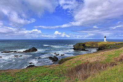 Photograph - Yaquina Head Lighthouse by Mark Whitt