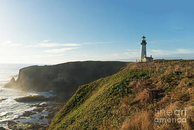 Photograph - Yaquina Lighthouse by Craig Leaper