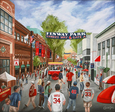 Fenway Park Boston Painting - Yawkey Way by Christine Da Silva