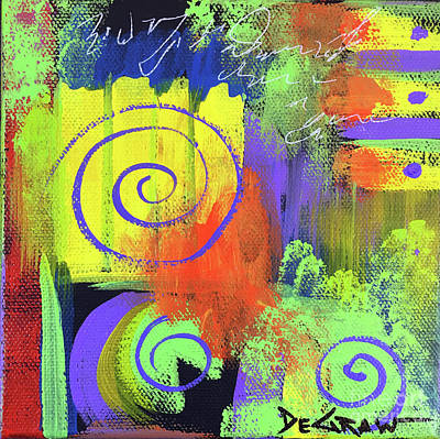 Painting - Yellow Abstract by Cindy DeGraw