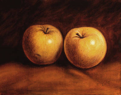 Food Painting - Yellow Apples by Rick McClung