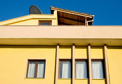 Upscale Photograph - Yellow Building by Tom Gowanlock