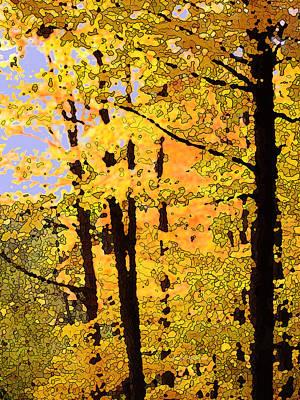Digital Art - Yellow Flood by Ian  MacDonald