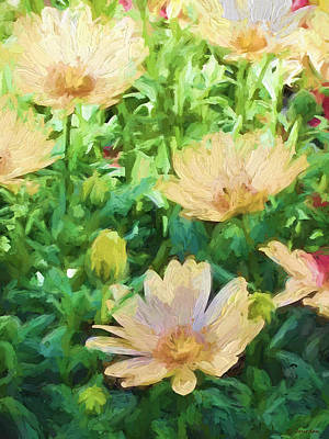 Painting - Yellow Flowers by Cathy Jourdan
