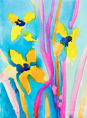 Painting - Yellow Flowers by Christina Miller Age Nine