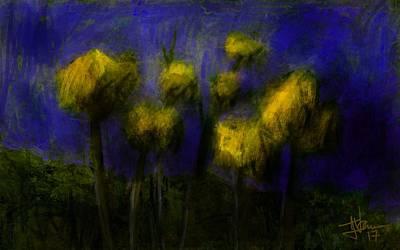 Digital Art - Yellow Flowers by Jim Vance