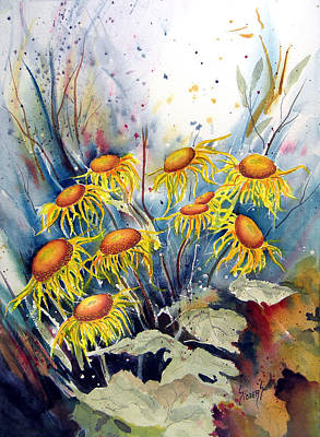 Painting - Yellow Flowers by Sam Sidders