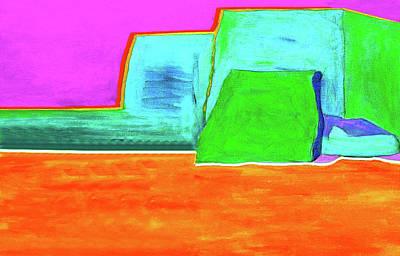 Yellow Ground By Nixo Art Print
