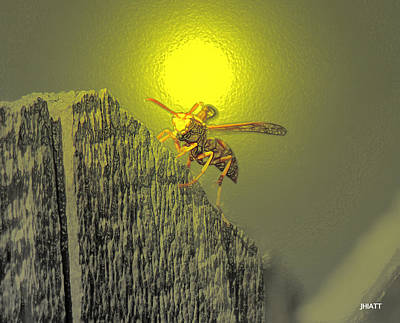 Digital Art - Yellow Jacket Blues by Justin Hiatt