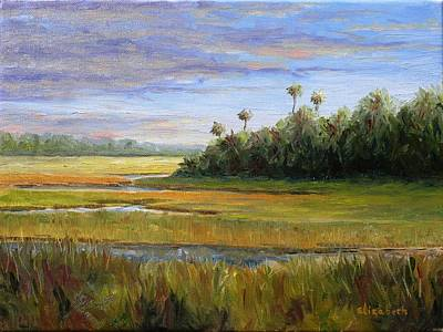 Yellow Marsh Art Print by Beth Maddox