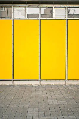 Yellow Panels Art Print by Tom Gowanlock