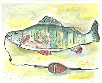 Painting - Yellow Perch by Matt Gaudian