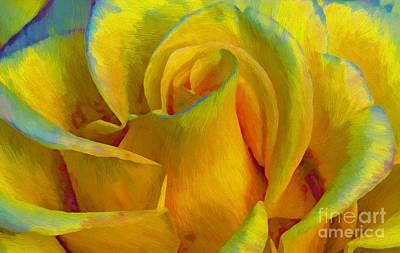 Yellow Rose Art Print by John  Kolenberg